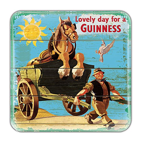 - Nostalgic Epoxy Magnet With Lovely Day For A Guinness Horse And Cart Design