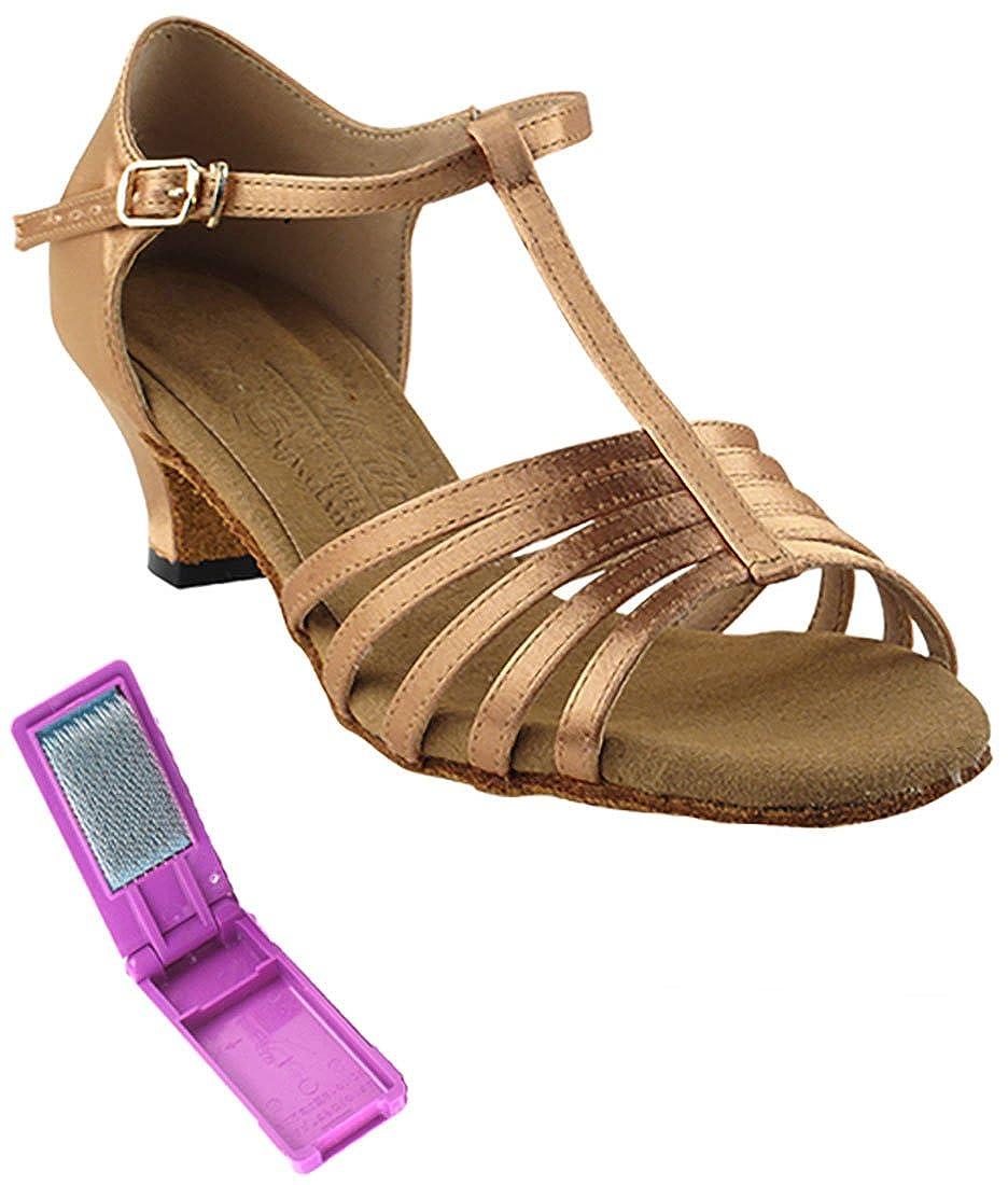 [Very Fine Dance Shoes] レディース B073GH67FZ タン サテン 4.5 B(M) US