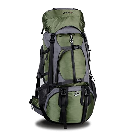 ARCHEER 65L Internal Frame Hiking Backpack Travel Daypack Trekking Bag with  Rain Cover for Outdoor Sports Climbing Camping Mountaineering Backpacking ec64fc6b23