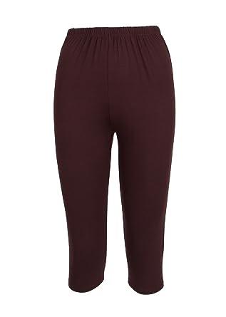 Clothes Effect Ladies Cotton Spandex Capri Leggings, USA Made ...
