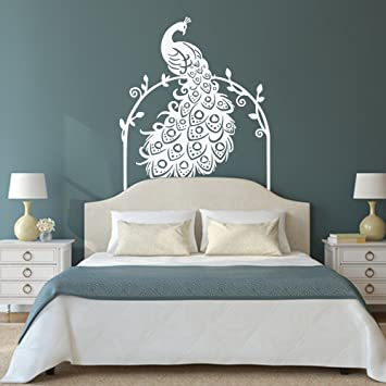 Vinyl Peacock Wall Decal Animal Wall Decal Bird Wall Decal Peafowl Art Wall  Stickers Wall Graphic