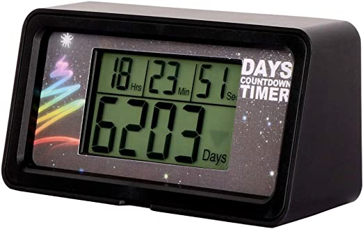 Compra NINE-RONG - Reloj Digital con Cuenta atrás para el día de 9 ...