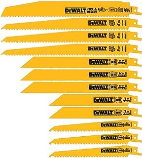 product image for DEWALT Reciprocating Saw Blades, Bi-Metal Set with Case, 12-Piece (DW4892)