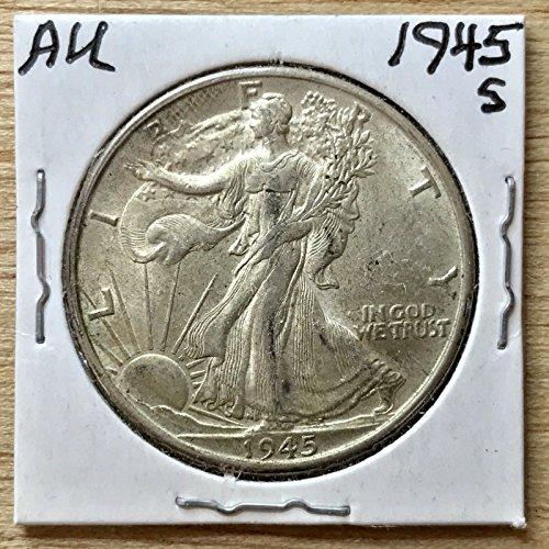 Genuine ~AU 1945 S Walking Liberty Half-Dollar 90% Silver (L228)