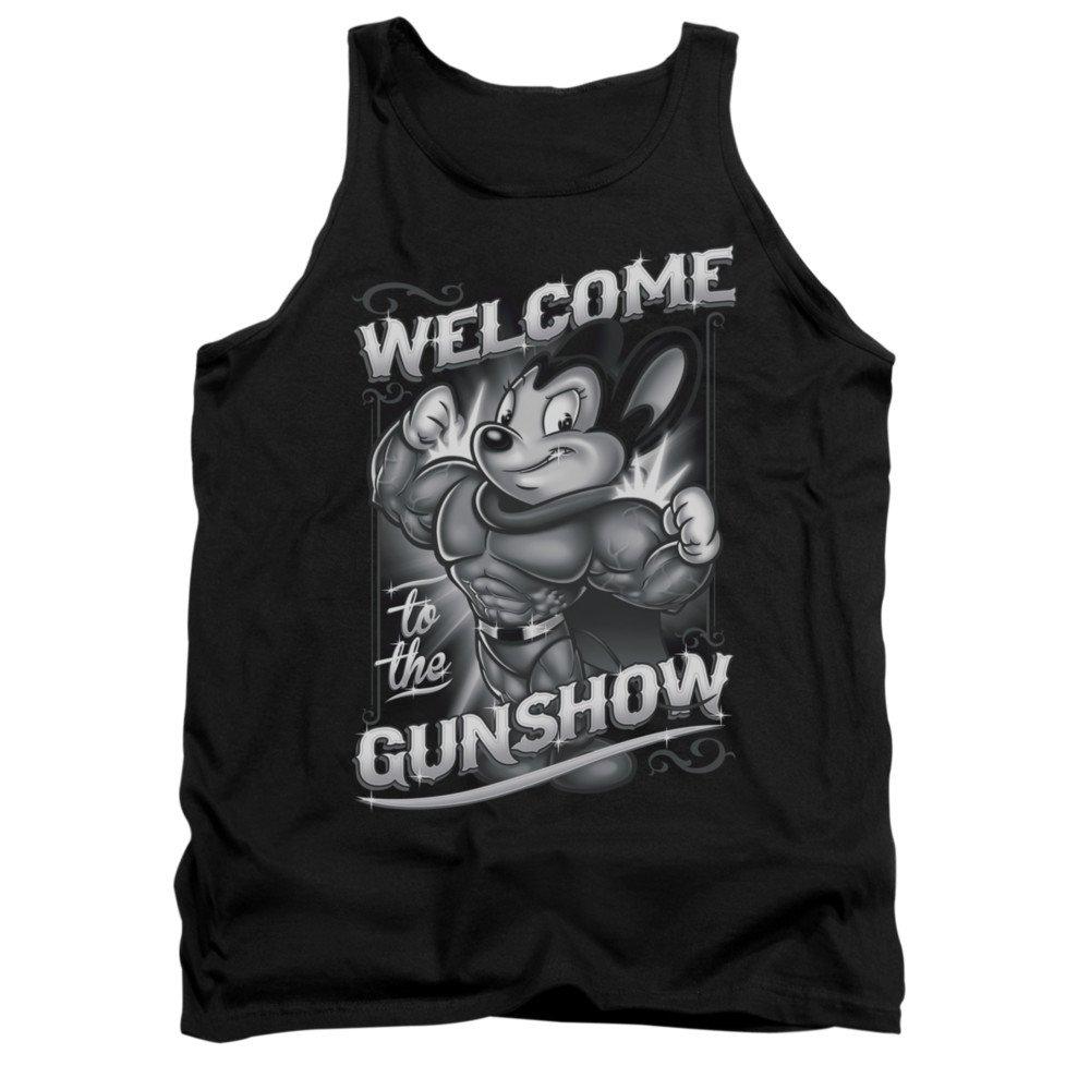 Mighty Mouse Cartoon Cbs Tv Series Mighty Gunshow Adult Tank Top Shirt 9411