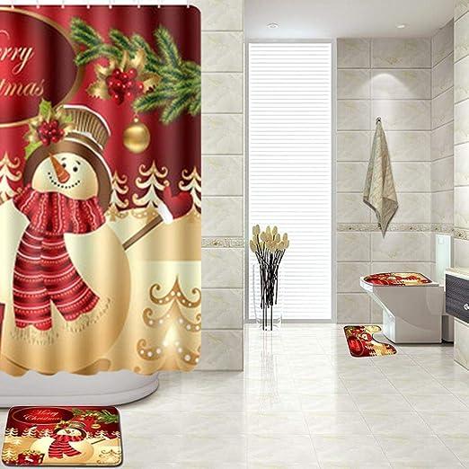 Freedomanoth Conjuntos de Cortinas de baño Juego de alfombras de ...