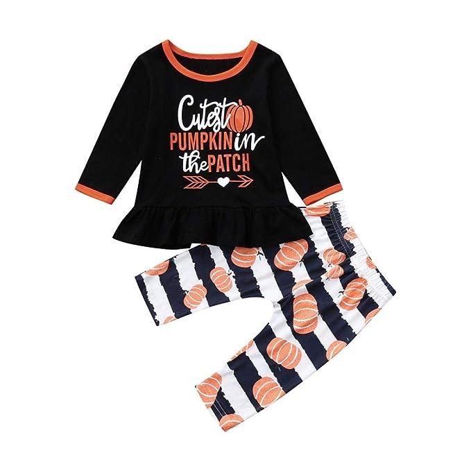 Conjuntos Bebe, ASHOP 0-3 años Niño Niña Otoño/Invierno Ropa Conjuntos, Top de Manga Larga con Estampado de Calabazas + Pantalones: Amazon.es: Ropa y ...