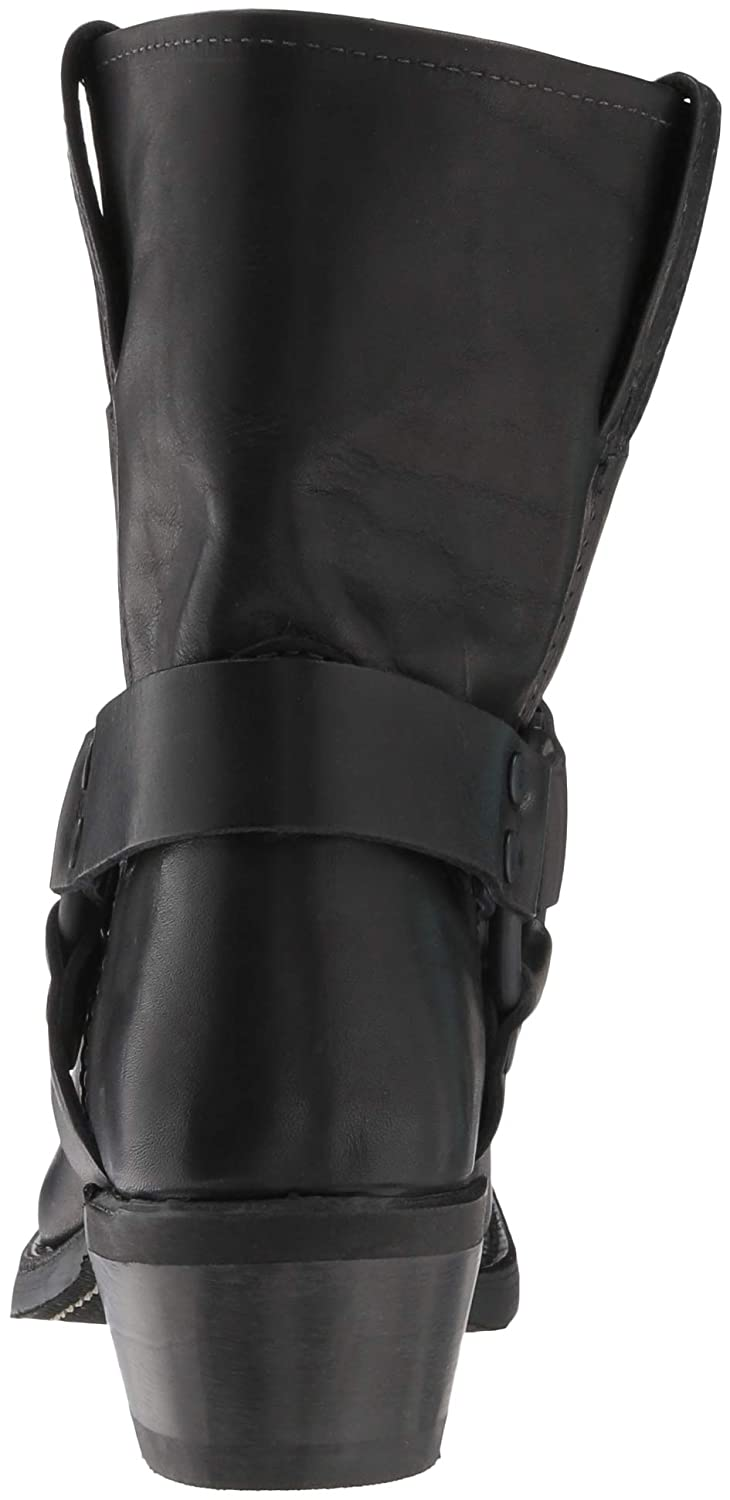 FRYE Womens Harness 8R Mid Calf Boot Black 9.5 M US