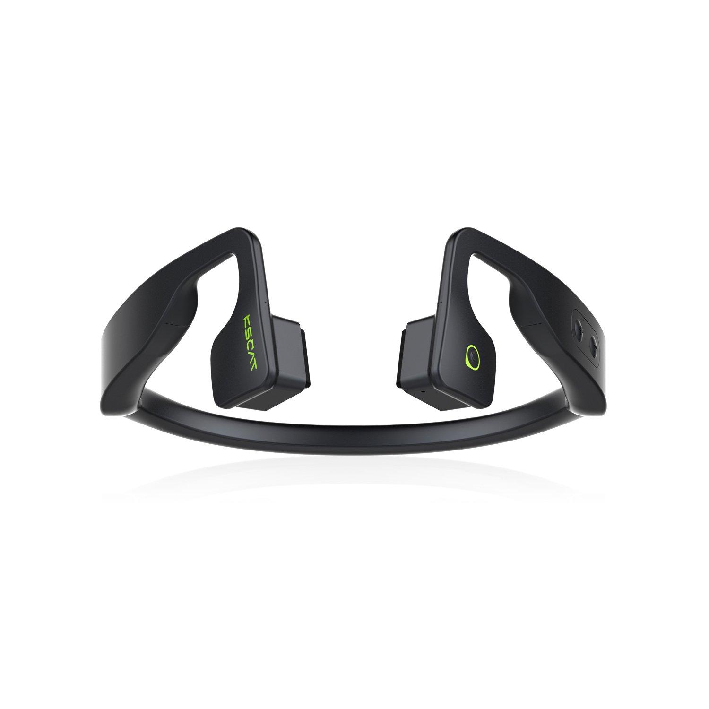 KSCAT 骨伝導 ヘッドホン Bluetooth 4.1 マグネット式充電 ワイヤレス ヘッドセット 高音質 apt-X搭載 CVCノイズキャンセリング技術 ハンズフリー スポーツイヤホン IPX6 防水 サイクリング最適 NICE5T (ブラック) B078HSPR1D ブラック