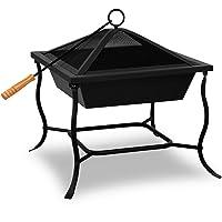 Feuerstelle klein Stahl schwarz Fire Pit ✔ eckig