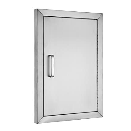 Mophorn Double Wall BBQ Access Door Cutout 20u0026quot;Height x 14u0026quot;Width BBQ Island  sc 1 st  Amazon.com : bbq doors black - pezcame.com