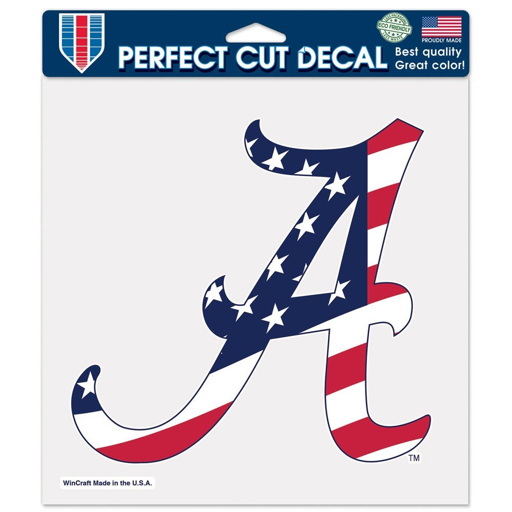 8 x 8 NCAA University of Alabama 04812115 Perfect Cut Color Decal White