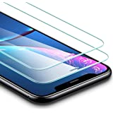 ESR Verre Trempé pour iPhone XR [Lot de 2] [Gabarit de Pose Inclu] [Taille Réduite conçue pour Les Coques] [Garantie à Vie], Film Protection Écran, Vitre Transparente Ultra Claire pour iPhone XR