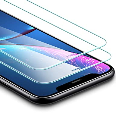 super popular 06e62 aa8e7 ESR Screen Protector for iPhone XR [2 Pack] [Easy Installation Frame ...