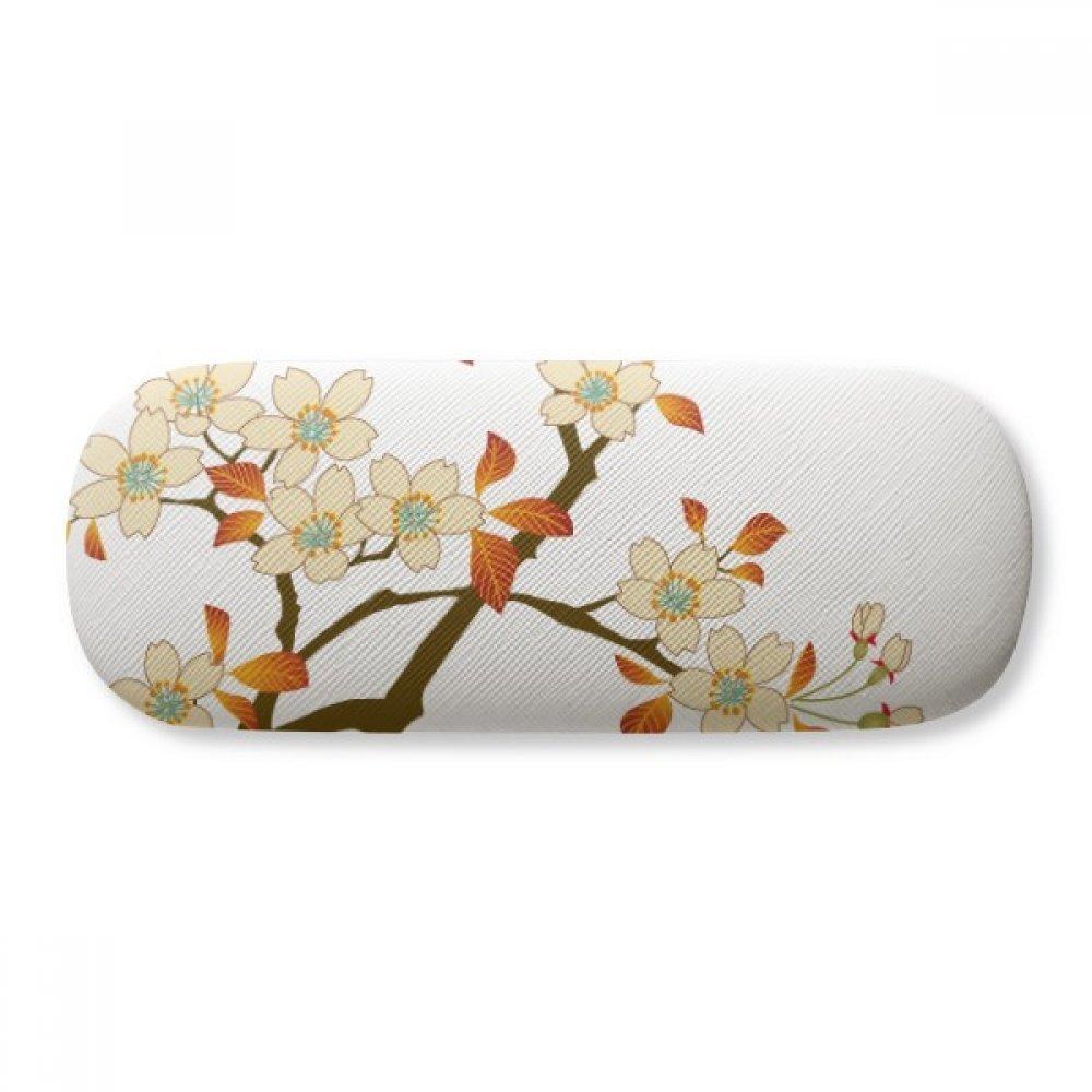 Leaves Flower Plant Wallpaper Wall Pattern Glasses Case Eyeglasses Clam Shell Holder Storage Box