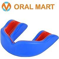 Oral Mart Protector bucal Sports para niños/Adultos (9 Mejores Colores) para el Karate, fútbol de la Bandera, Artes Marciales, Rugby, Hockey, Boxeo (con Funda ventilado)