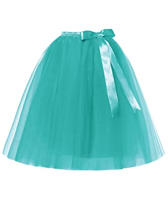 RuiyuhongE Lady\'s 5 Layers Tulle Princess Tutu Skirts Retro Dress ...