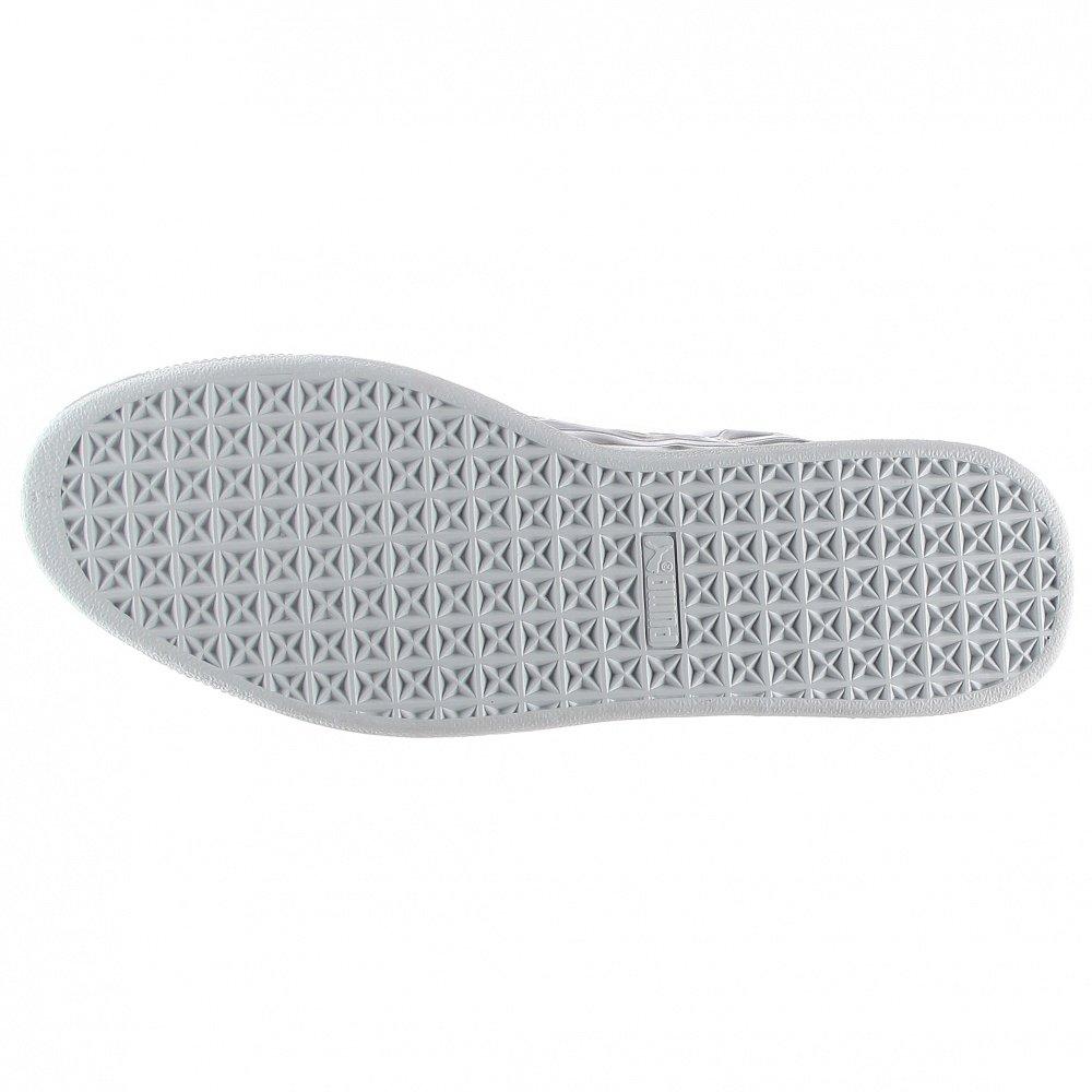 PUMA Men's Basket Classic Metallic Fashion Sneaker, Silver, 9.5 M US by PUMA (Image #6)