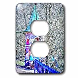 Moscow Digital Photo Art - Chapel over the water spring. Divisionism Light Switch Cover is made of durable scratch resistant metal that will not fade, chip or peel. Featuring a high gloss finish, along with matching screws makes this cover the perfec...