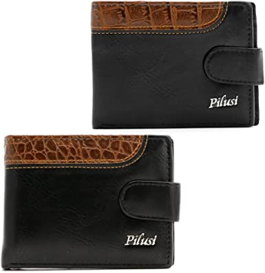 Mens Wallet Credit Card Holder for Men in Large Capacity Coin Pockets