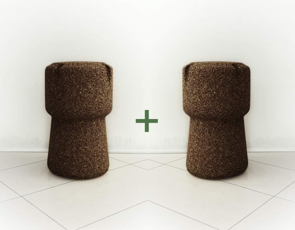 Greencorks collezione beerpouf coppia di sgabelli con seduta tonda