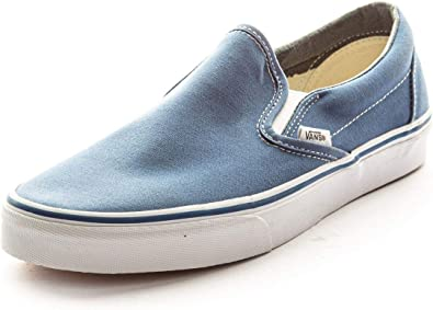Vans Men's VANS CLASSIC SLIP ON SKATE SHOES Men 6.5 Women 8 (NAVY)
