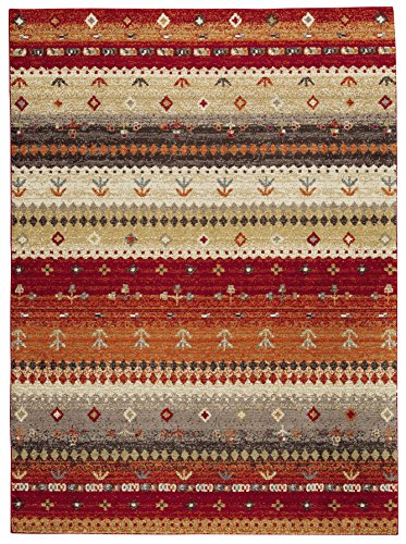 Signature Design by Ashley R403202 Medium Rug, 5 x 8, Red