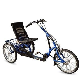 "Bicicleta baja de tres ruedas eléctrica con 7 velocidades, 20"", hecha en Holanda"