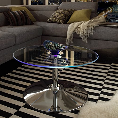 round chrome coffee table - 8