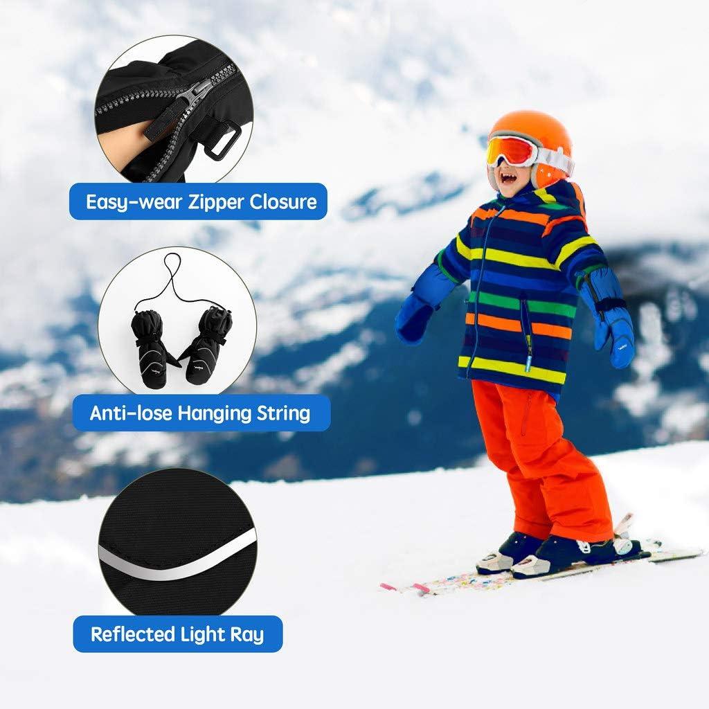 Guanti da Snowboard Impermeabili Antivento Guanti per Sport Invernali per 2-8 Anni Ragazzi e Ragazze Unigear Guanti da Sci Bambini