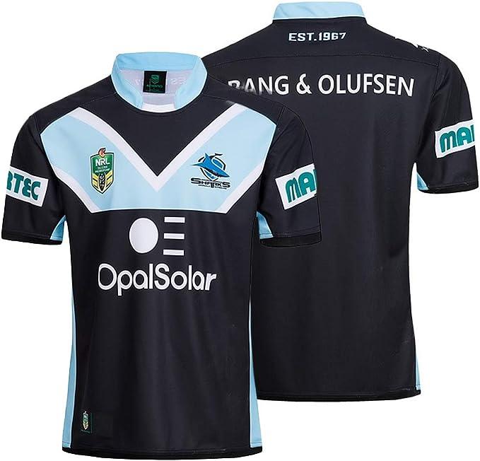 K-Flame Sharks Rugby Jersey Hombres Entrenamiento físico Camisa de ...