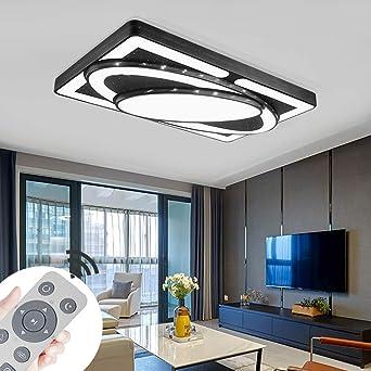 Good Deckenlampe LED Deckenleuchte 78W Wohnzimmer Lampe Modern Deckenleuchten  Kueche Badezimmer Flur Schlafzimmer (Schwarz, 78W Dimmbar): Amazon.de:  Beleuchtung