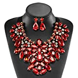 Holylove Red Costume Statement Necklace with Earrings Review and Comparison