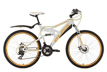 Fully Mountain Bike 26 Bliss White Yellow Ks Cycling Amazon Co