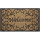 Achim Home Furnishings COM1830VN6 Vines Coco Door Mat, 18 by 30""