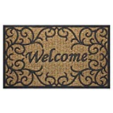 Achim Home Furnishings COM1830VN6 Vines Coco Door Mat, 18 by 30''