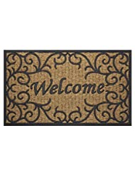 Achim Home Furnishings COM1830VN6 Vines Coco Door Mat, 18 by ...