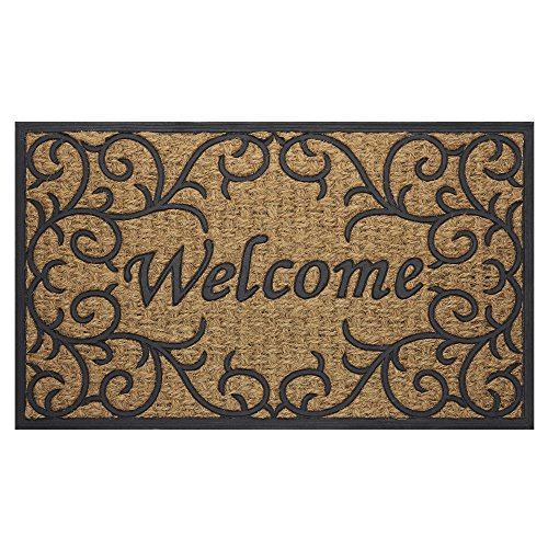 Achim Home Furnishings COM1830VN6 Vines Coco Door Mat, 18 by 30