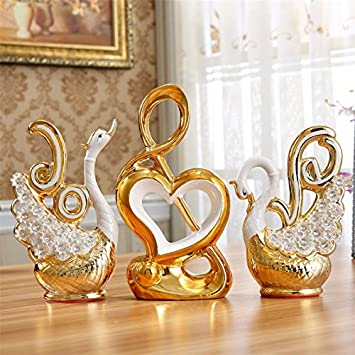 Xoyoyo Swan Ornamente Home Einrichtung Einrichtung Keramik Tv