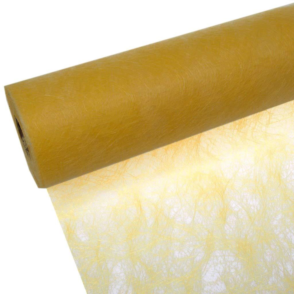 Deko AS GmbH Sizoflor Tischband Sonnengelb 20 cm Rolle 25 Meter 60 022-R
