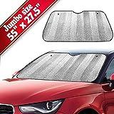 Big Ant Car Windshield Sunshade UV Ray Reflector Auto Window Sun Shade Visor Shield Cover, Keeps Vehicle Cool- Sliver (55'' x 27.5'')