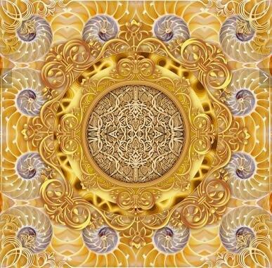 Ohcde Dheark 3D Smd 3D Stereo Wall Sticker Wallpaper Fresco Bathroom Floor Golden Luxury Jade Carving Bedroom Floor Sticker,430Cmx300Cm(169.3 By 118.1 In ) by Ohcde Dheark (Image #3)