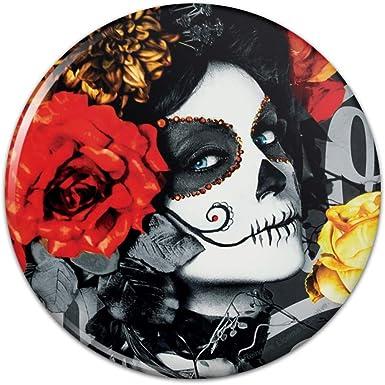 Colorful Artistic Skull Design Wall Clock Splatter Art Day of the Dead