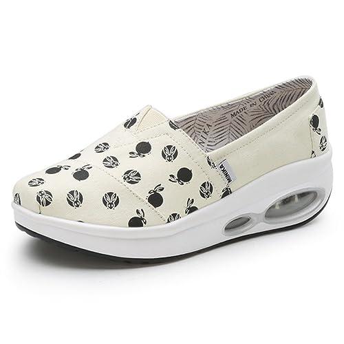 Zapatos de Mujer Shake, Zapatos de Lona Verano Sacudiendo, Mocasines y Slip-Ons Zapatos Perezosos Antideslizantes, Zapatillas de Deporte Salvajes ...