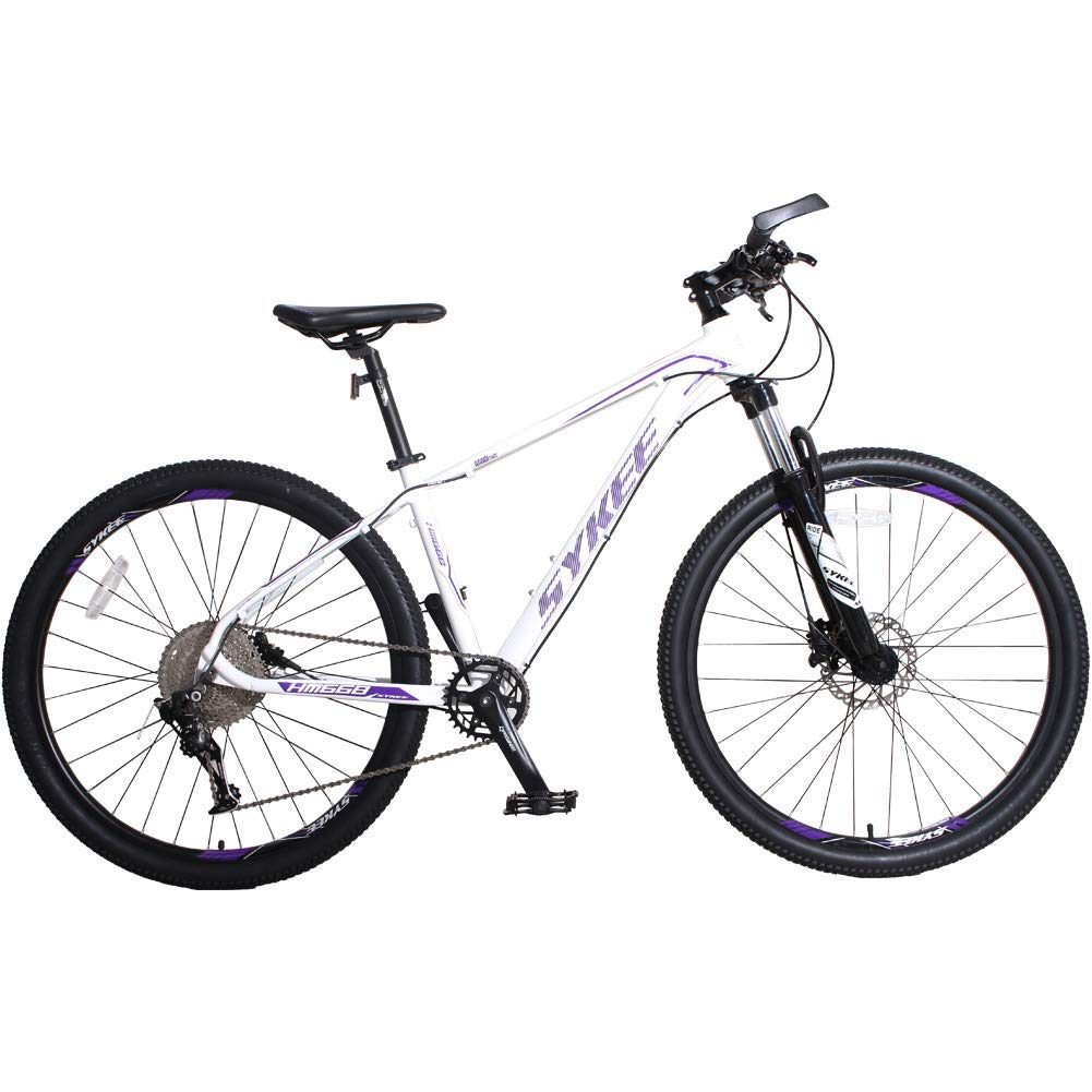 マウンテンバイク、11スピード27.5インチの大人用自転車、アルミフレーム可動ロックフロントフォーク - 吊るすマウンテンバイク B07H3LZYBC  白紫