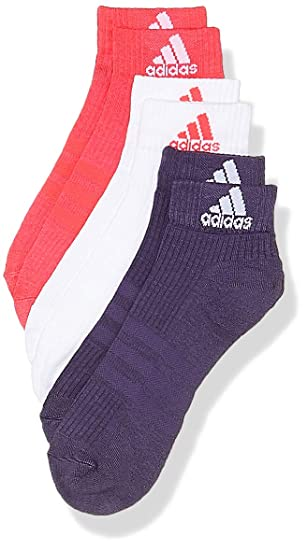 c30677fb7 adidas Men's 3-stripes Performance Ankle (3 Pairs) Socks: Amazon.co ...