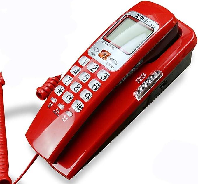 WDWL Teléfono, Teléfonos con Cable, Teléfono Antiguo Europea Retro De La Manera Antigua Creativa Viejo Hogar con Cable Teléfono Fijo (Color : Red): Amazon.es: Electrónica