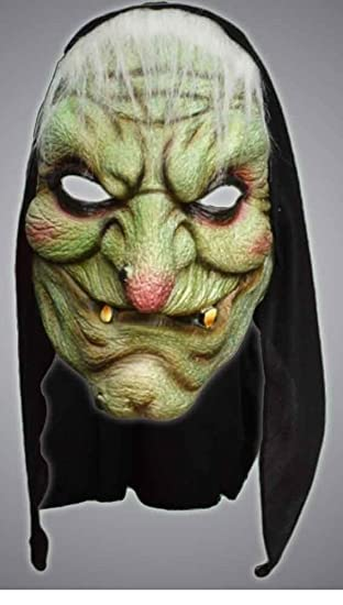 Halloween Masks Uk.Scary Witch Halloween Mask With Scarf Hood Fancy Dress Masks