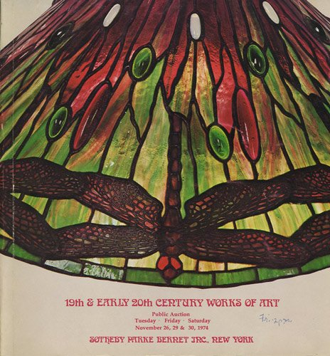 19th & Early 20th Century Works of Art Including Art Nouveau & Deco, Orientalia, European Bronzes, Decorations, tapestries, Furniture November 26, 29, 30, 1974 (Art Nouveau Auction)