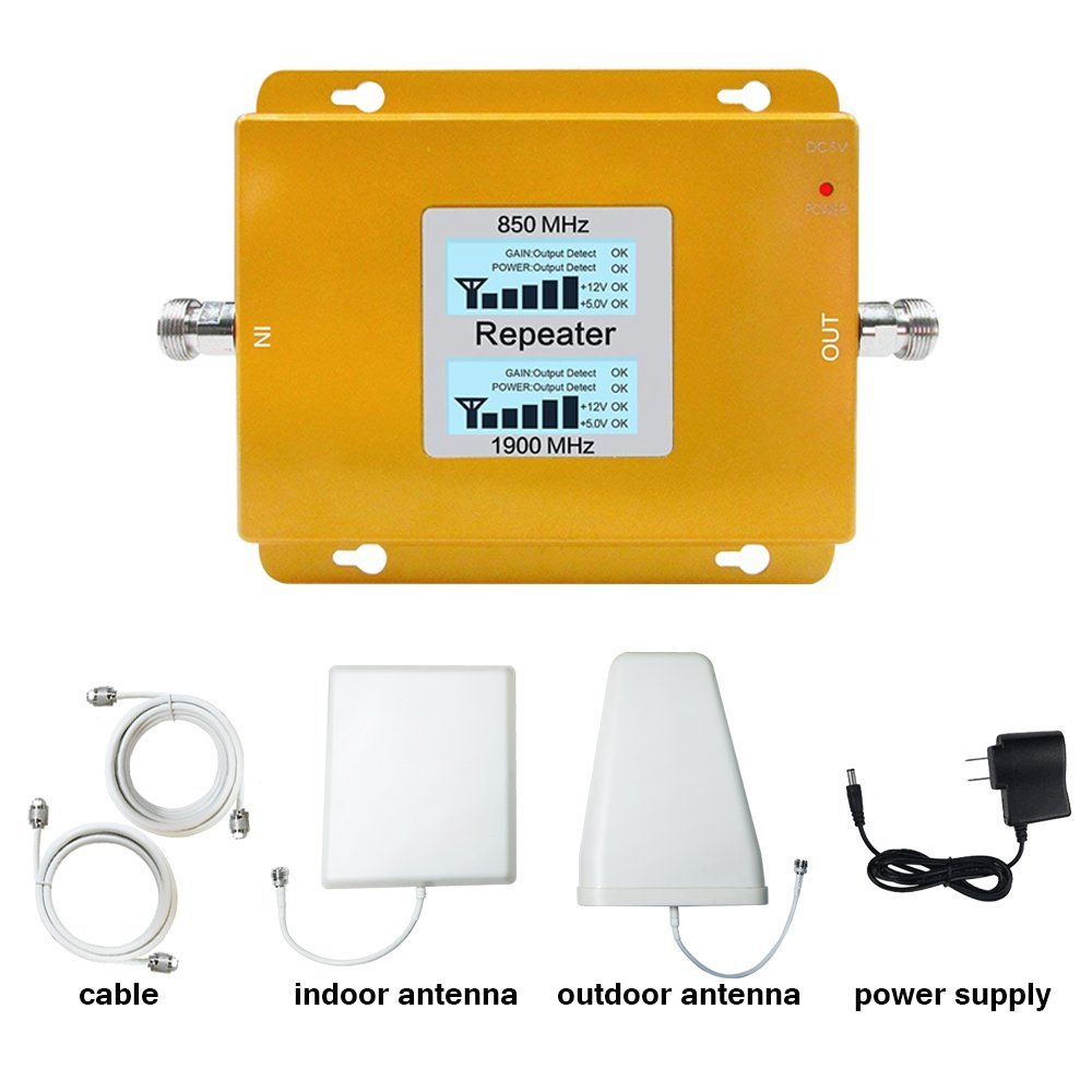 2G//4G U.S.Cellular for Home/&Office Band2//Band5 Dual Band Signal Repeater Kits T-Mobile Volferda Cell Phone Signal Booster for 2G//3G//4G Verizon AT/&T